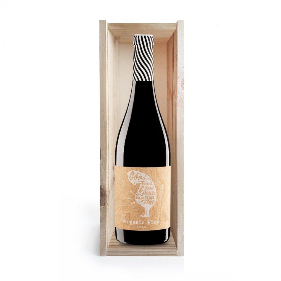 Wijnkist Merlot Navarra Organic
