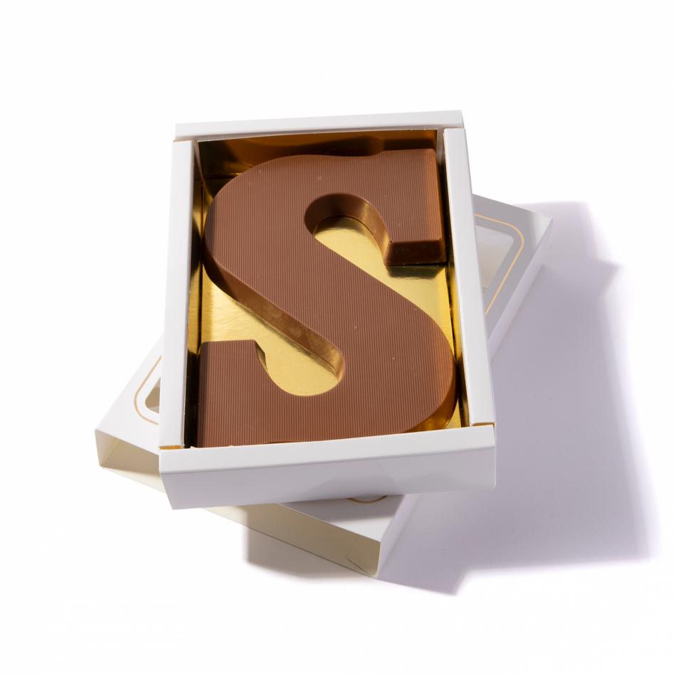 Chocoladeletter S 200 gram